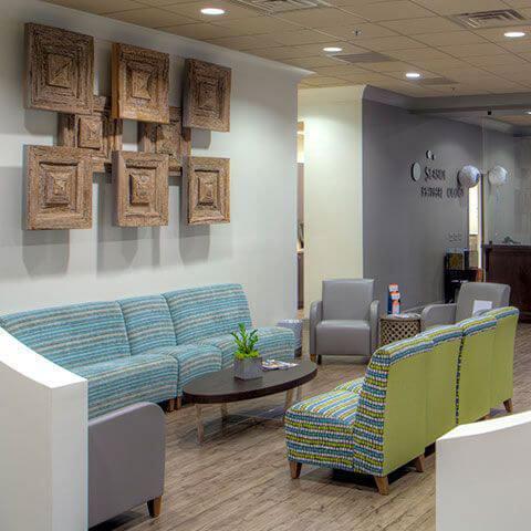 Waiting Room inside Seaside Eyes Office